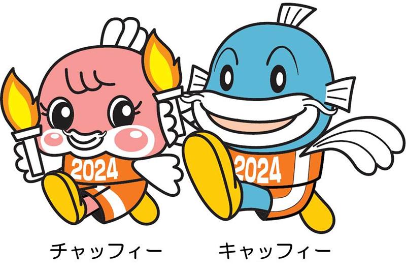 滋賀国体キャラクター(チャッフィー・キャッフィー)